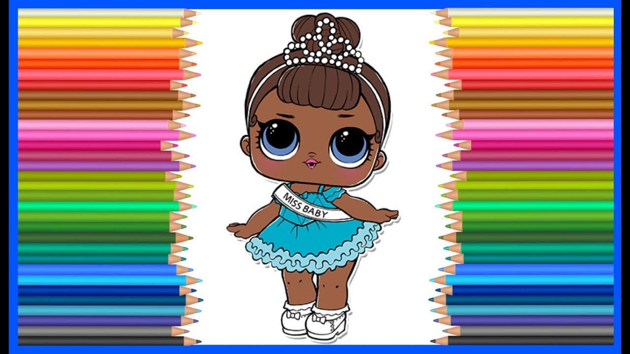 куколка лол сюрприз раскраска мисс бейби Lol Surprise Series 1 Wawe 2 рисуем куколку лол