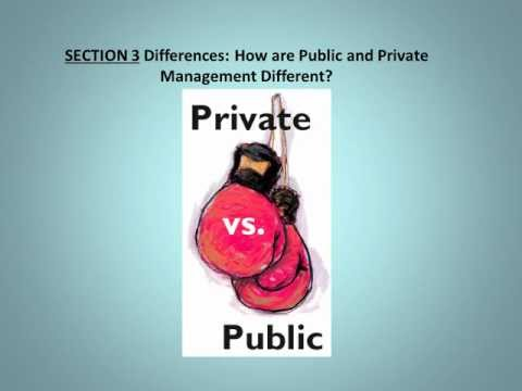 CH 39 Public and Private Management: Are They Fundamentally Alike in All Unimportant Aspects?