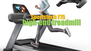 ✅Sportstech F75   high-end treadmill   with large running surface 2019 UK