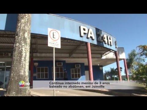 Continua internado menino de 3 anos baleado no abdômen, em Joinville
