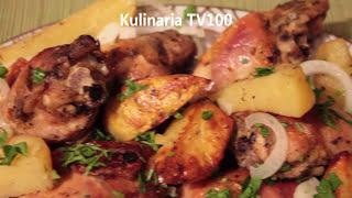 видео Как приготовить курицу с картошкой в духовке