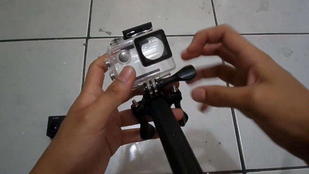 como hacer un selfie stick para gopro sj cam xiaomi eken h9 youtube. Black Bedroom Furniture Sets. Home Design Ideas