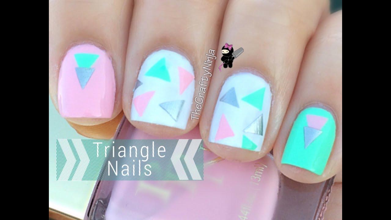 Nail Hack Easy Triangle Nail Art Youtube
