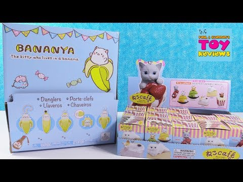 Bananya The Kitty Who Lives In A Banana & Neco Cafe Toy Review | PSToyReviews