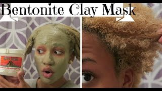 Bentonite Clay Mask on 4B Natural Hair & Skin| DEMO