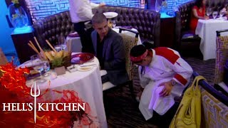 Chef DROPS Table-Side Clams By Customer | Hell's Kitchen