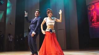 Sandeep Chhetri & Roshna KC Babal Dance @Korea पूर्व -पश्चिम रेल