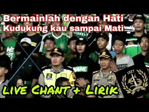 Live Chant dengan lirik   Green Nord Tribun, Berjuanglah Persebaya Surabaya   Psby vs Mitra Kukar