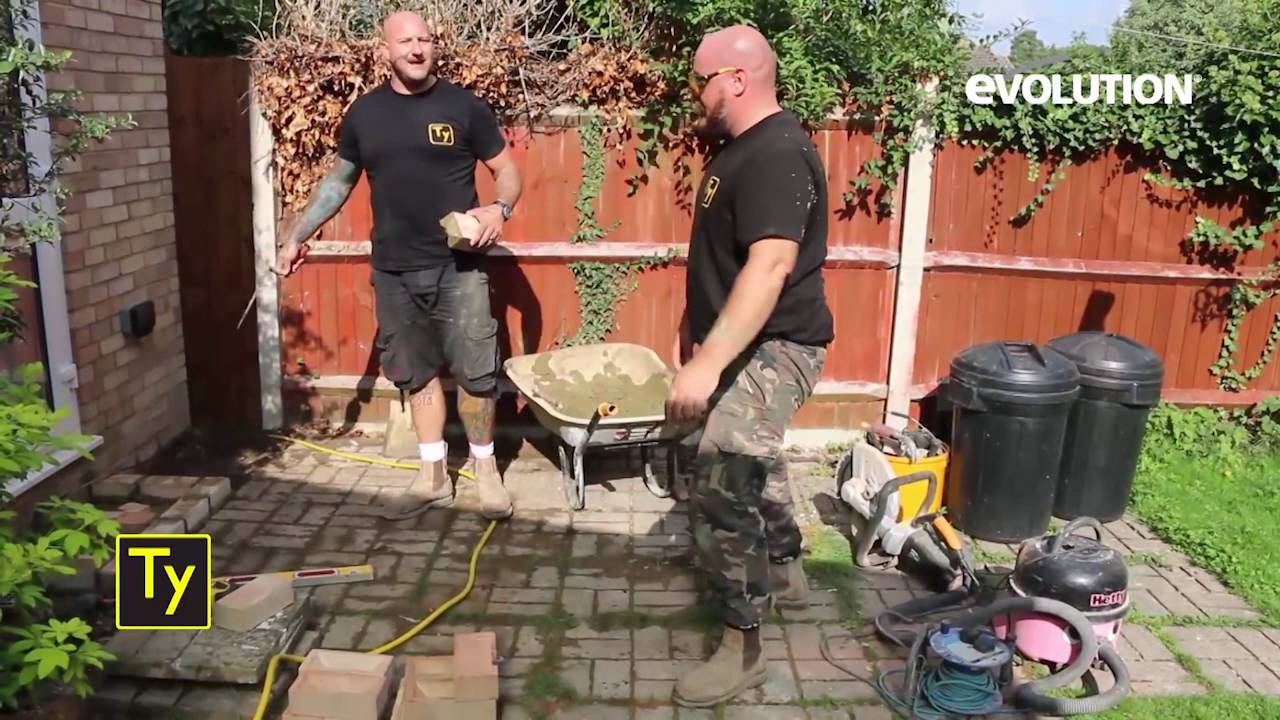 evolution 305mm disc cutter domestic site extension work youtube