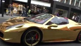 Supercars in London - Gold supercars