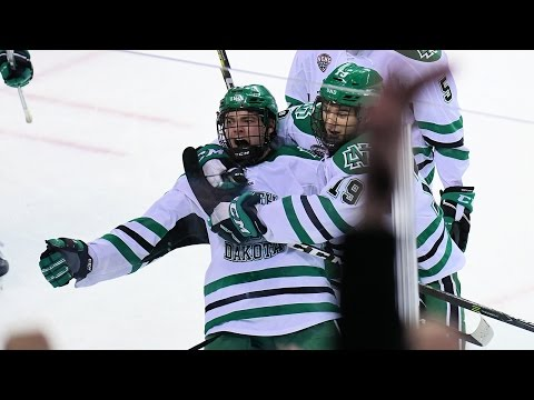 UND hockey - Tyson Jost amazing goal vs Omaha - 2/24/17