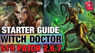 Witch Doctor Starter Guide Season 19 Patch Build 2.6.7 Diablo 3 Helltooth
