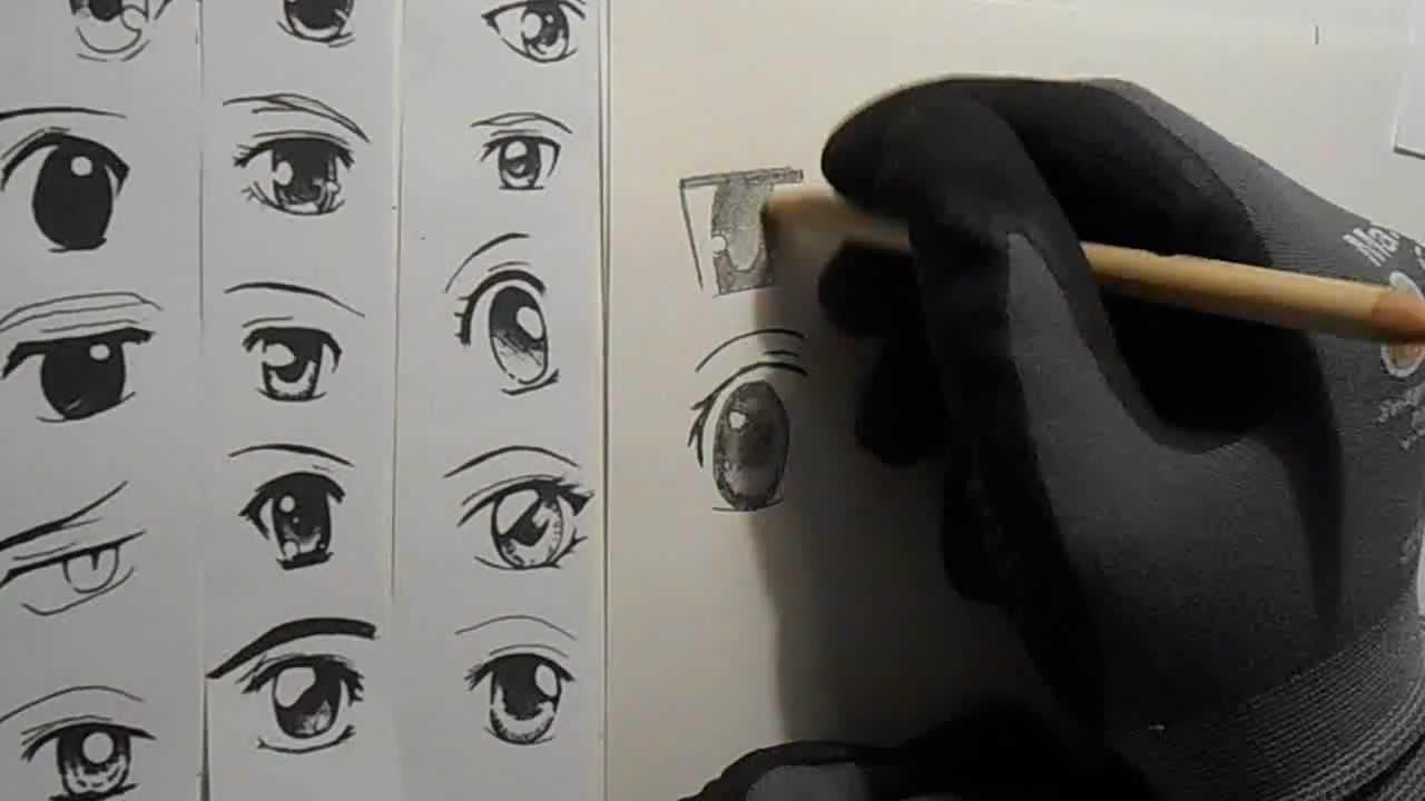 Manga Augen Zeichnen Lernen Hd Youtube