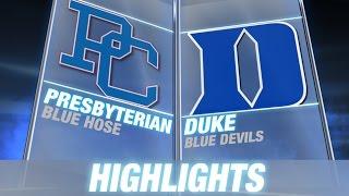 Presbyterian vs Duke | 2014-15 ACC Men