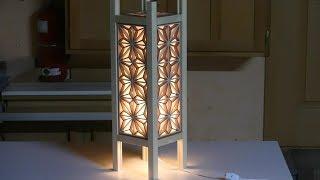 Make a kumiko pattern light stand
