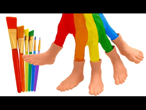 Thumbnail: Learn Colors for Kids with Paint Toes Feet and Finger Family Nursery Rhymes RL