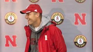 Mike Riley talks after Friday practice