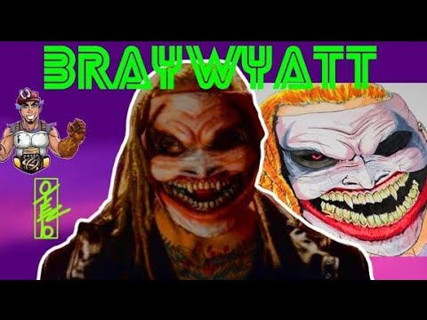 The Fiend Bray Wyatt Mask WWE firefly funhouse how to draw