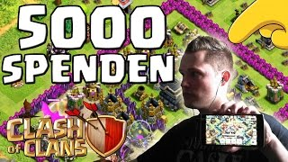 5000 SPENDEN! || CLASH OF CLANS || Let's Play COC [Deutsch German HD Android iOS PC]