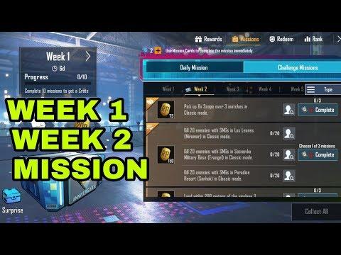 Pubg Mobile Week 1 Week 2 Mission Full Explain