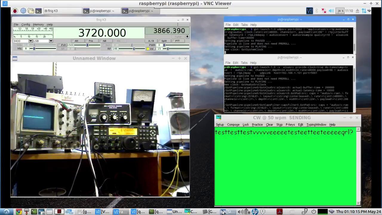 HAM RADIO - Remote Rig Operations - homebrew setup with a Raspberry PI &  some free software