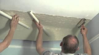 Обои Линкруста. Как оклеить потолок Линкрустой.(, 2014-07-31T10:25:28.000Z)