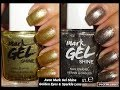 Avon Mark Gel Shine Nail Enamels - Golden Eyes & Sparkle Lens