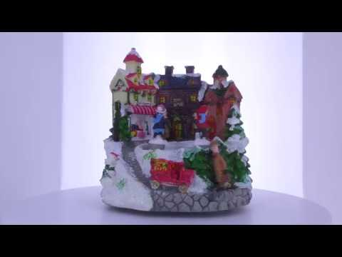 Winter Village With Rotating & Skating Children Christmas Musical Figurine