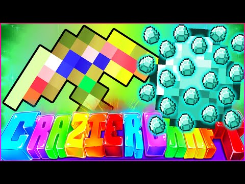 "Minecraft CRAZIER CRAFT SMP - ""FORTUNE 100 GOD PICKAXE"" - Episode 68"