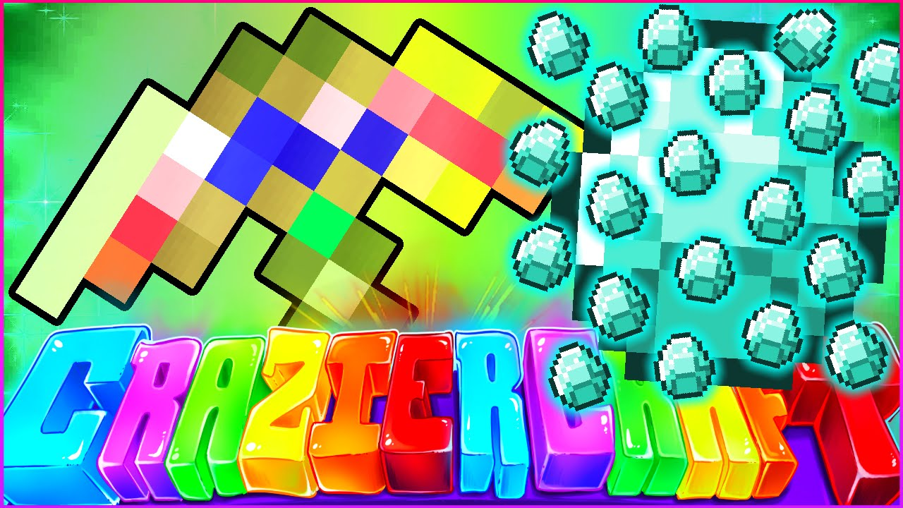 "Download Minecraft CRAZIER CRAFT SMP - ""FORTUNE 100 GOD PICKAXE"" - Episode 68"
