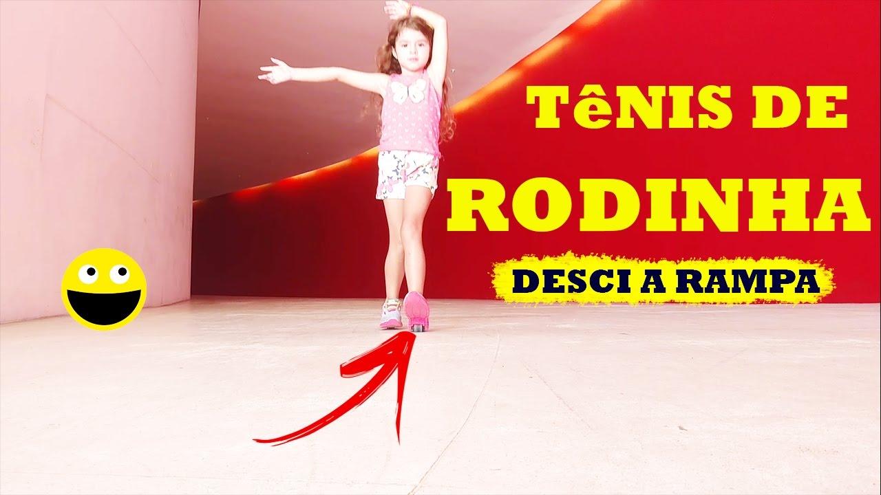 722cd9747 TÊNIS DE RODINHA - É PERIGOSO  DESCI A RAMPA! - YouTube