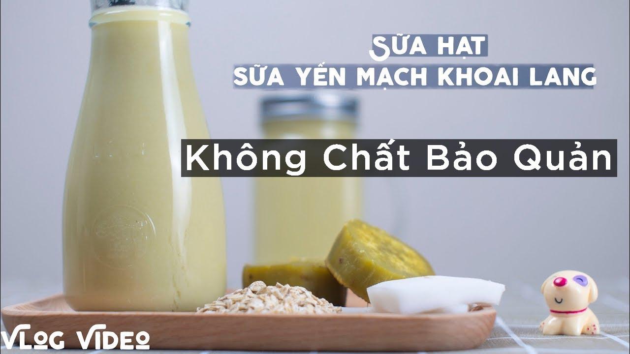 Cách Làm sữa Yến Mạch, Khoai Lang, Cốt Dừa thơm ngon, bổ dưỡng – Sữa Hạt Dinh dưỡng cho bé