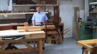 Foster Workbench - Using The  Foster Chair Vise© To Hold A Maloof Style Rocking Chair By The Seat