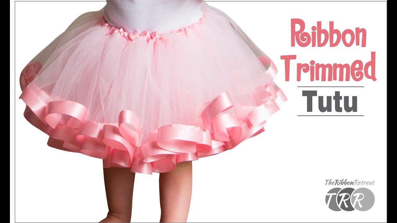 How To Make A Ribbon Trimmed Tutu Theribbonretreat Com