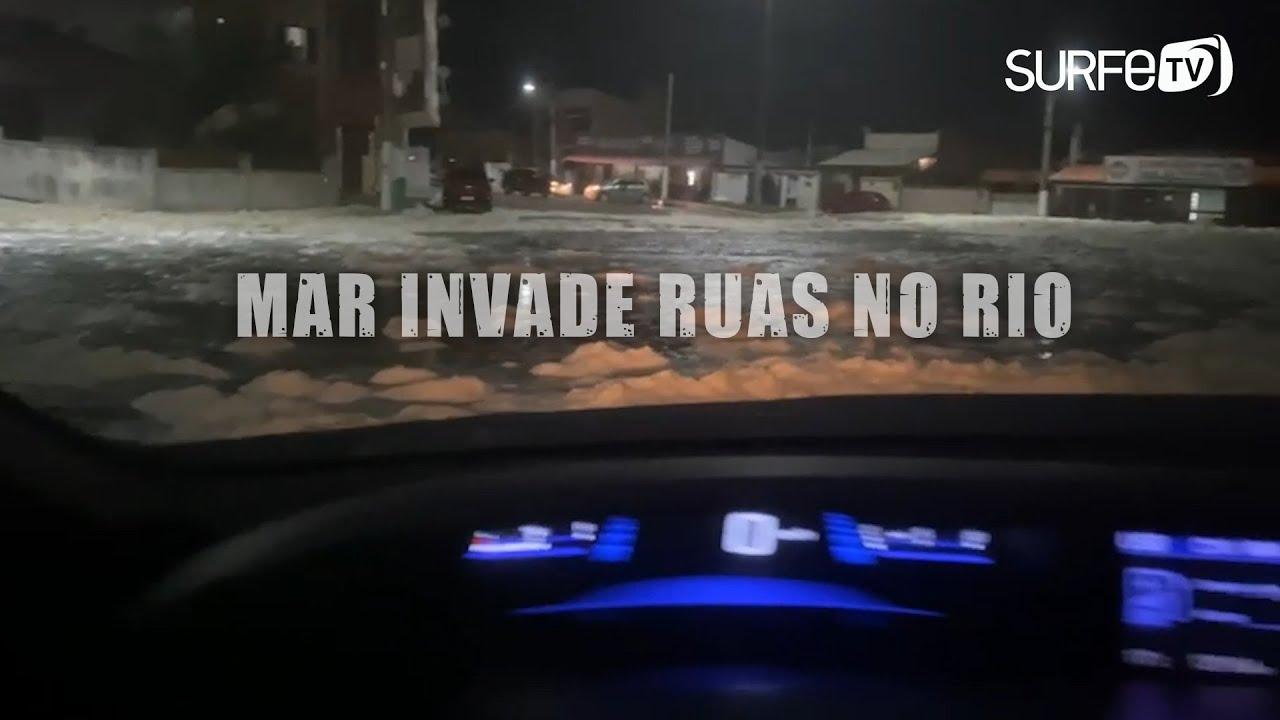 #RESSACA - Mar invade pistas do Rio e Saquarema
