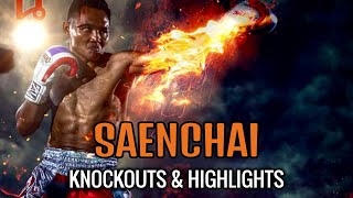 Muay Thai Master vs Foreign Challengers (Saenchai Knockouts & Highlights)