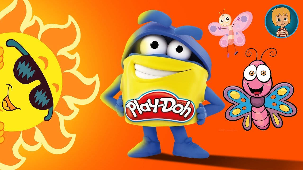 Play Doh How to make Butterfly and Sun - Learn Colors with Play Dough (Gertit ToysReview)