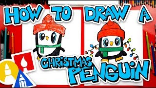 How To Draw A Christmas Penguin