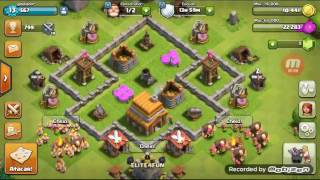 Meu primeiro video: clash of clans