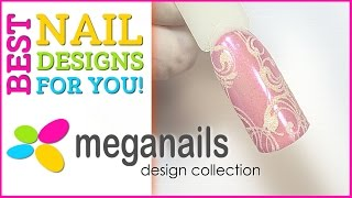 Дизайн ногтей с втиркой пигмента и вензелями!