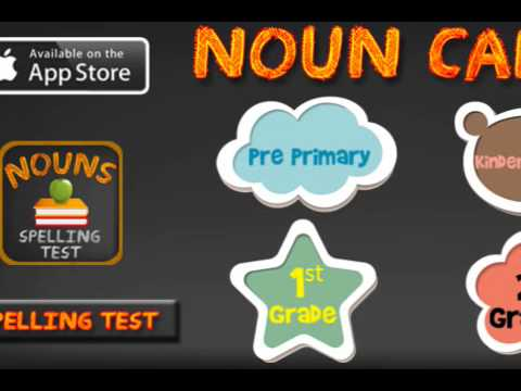 Spelling Test Practice with Nouns - Customizable vocabulary building app