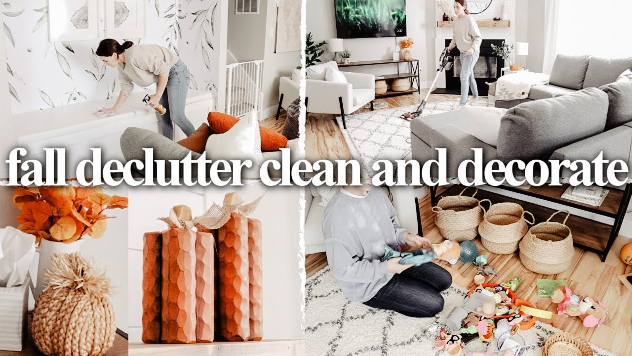 EXTREME FALL DECLUTTER, CLEAN AND DECORATE 2020