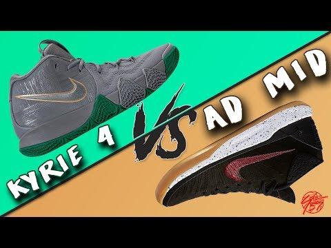 Nike Kyrie 4 vs Kobe AD MID!