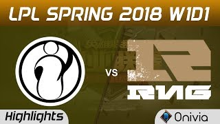 IG vs RNG Highlights Game 2 LPL Spring 2018 W1D1 Invictus Gaming vs Royal Never Give Up by Onivia