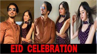 Jannat Zubair EID Celebration With Mr Faisu And Family At Home