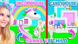 SANNA VS CHILD Build Challenge In Adopt Me! (Roblox)