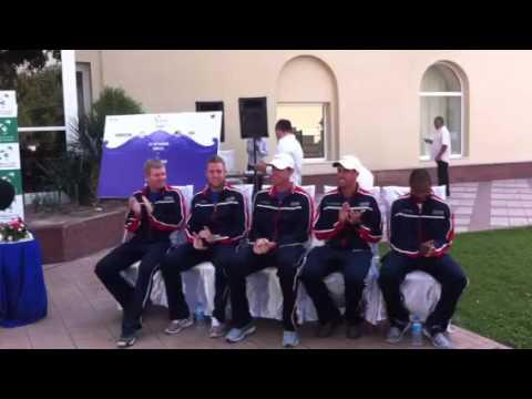 US Davis Cup Team Introduced at Draw Ceremony - Tashkent
