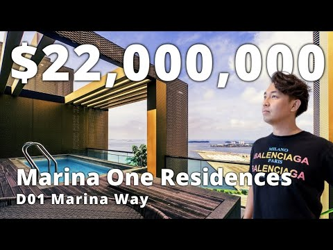 Signature Sea View Duplex Penthouse ($22M) D01 Marina One Residences | Singapore Home Tour Ep.151