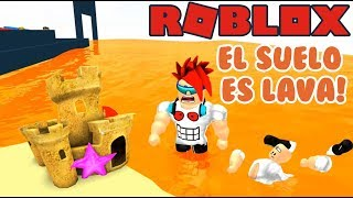 The Soil is Lava in the Park The Floor is Lava ? Roblox Games in Spanish