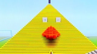 Repeat youtube video Minecraft GIANT ANGRY BIRDS Pyramid!